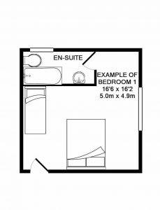 Crockwell 1's floorplan.