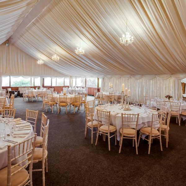 Main marquee with seating for up to 200