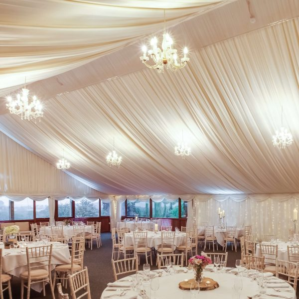Marquee set for dinner dance up to 200 delegates